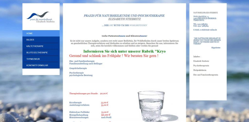 Praxis für Naturheilkunde Elisabeth Stiebritz Bielefeld
