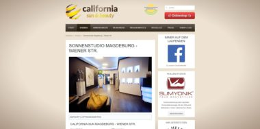 Kryotherapie Magdeburg California Sun